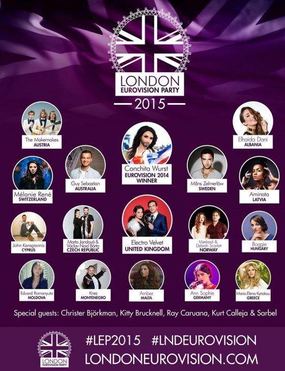 London 2015 Lineup