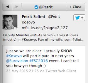 selemi tweet kosovo