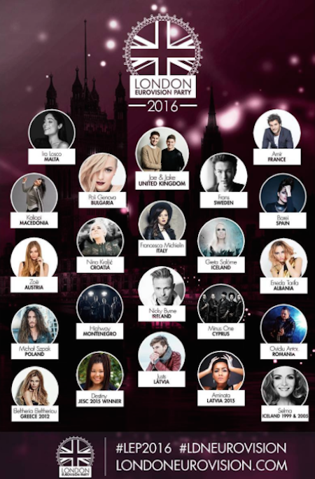 london party 2016 lineup