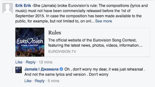 Jamala response