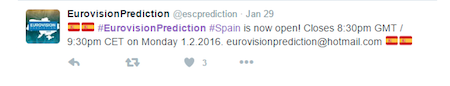 eurovision prediction tweet